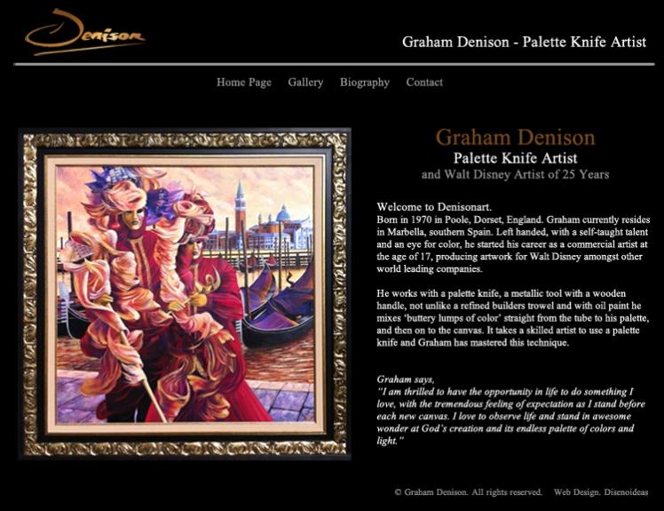 diseño pagina web artista