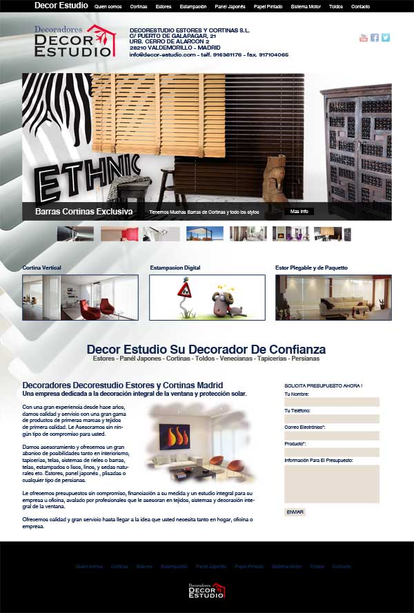 Decoradores Decor Estudio, Estores y Cortinas en Madrid