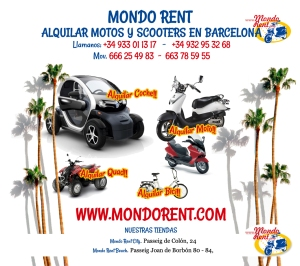 motor bike rental barcelona, rent a car barcelona