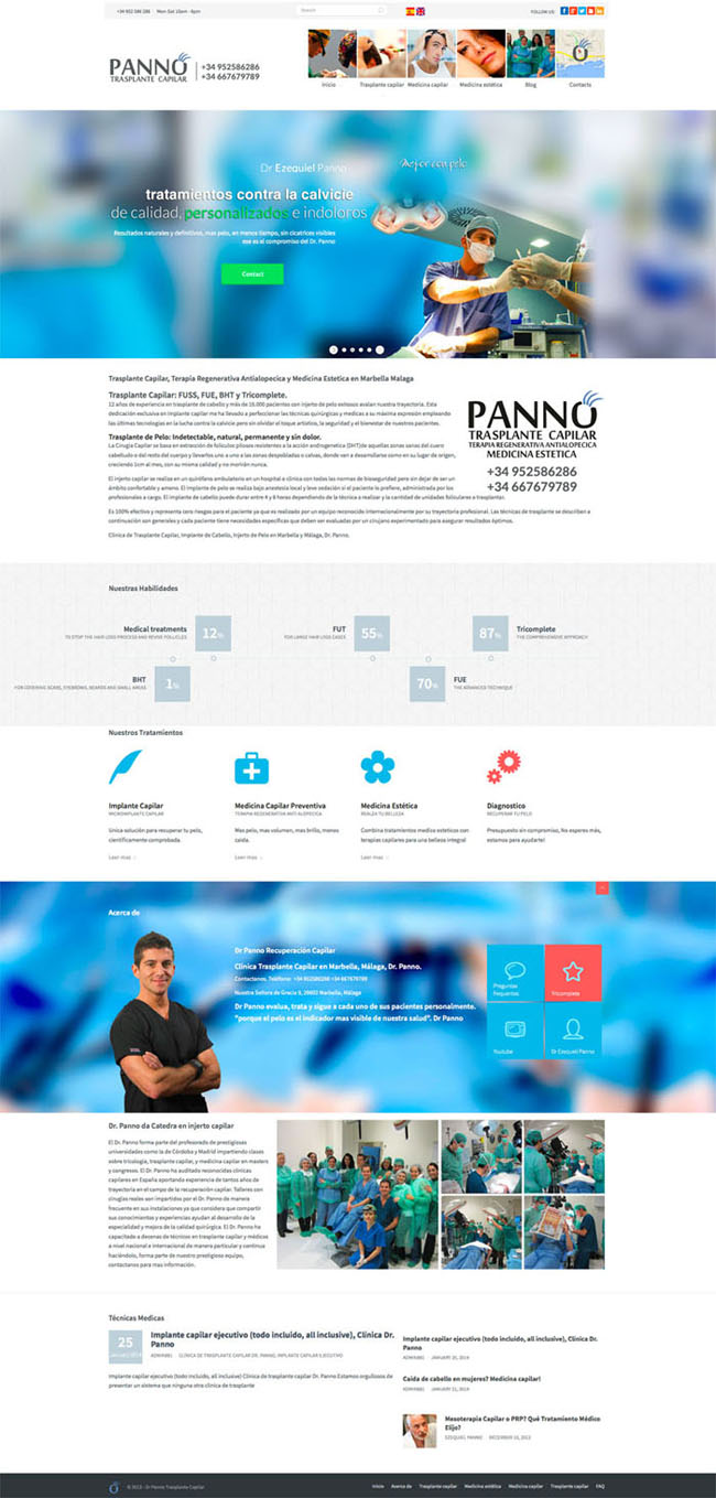 Dr Panno Hair Transplant and anti alopecia treatments in Malaga