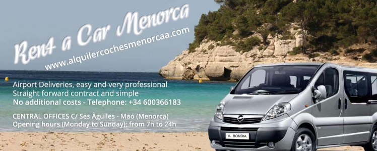 Car rental in Menorca, rent a car in Menorca