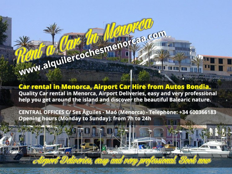 Car hire Menorca. Rent a Car - Airport car hire in Menorca AutosBondia