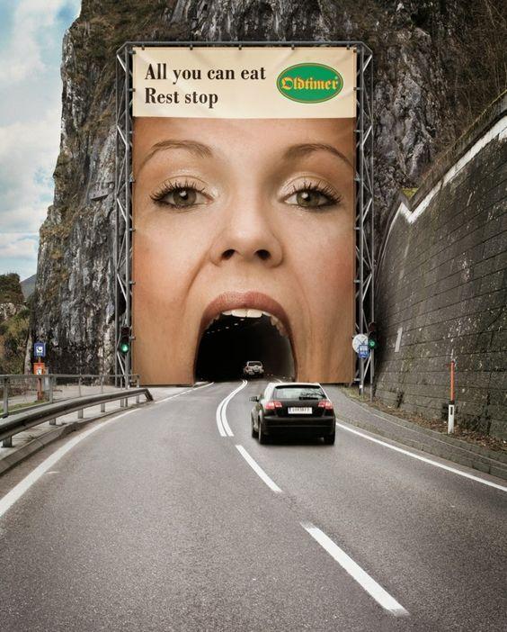 Oldtimer Restaurants: All you can eat rest stop. Creative-best-advert-designs-2016