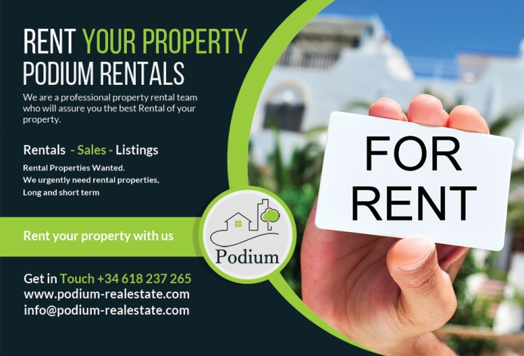 we need properties to rent in marbella, podium property rentals marbella